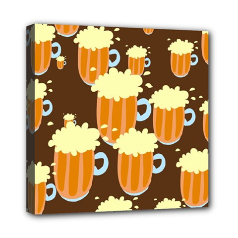 A Fun Cartoon Frothy Beer Tiling Pattern Mini Canvas 8  X 8