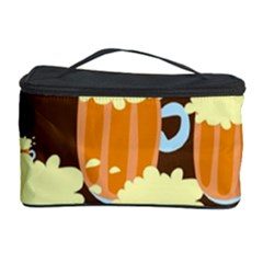 A Fun Cartoon Frothy Beer Tiling Pattern Cosmetic Storage Case