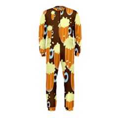 A Fun Cartoon Frothy Beer Tiling Pattern Onepiece Jumpsuit (kids)