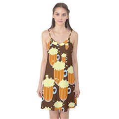 A Fun Cartoon Frothy Beer Tiling Pattern Camis Nightgown