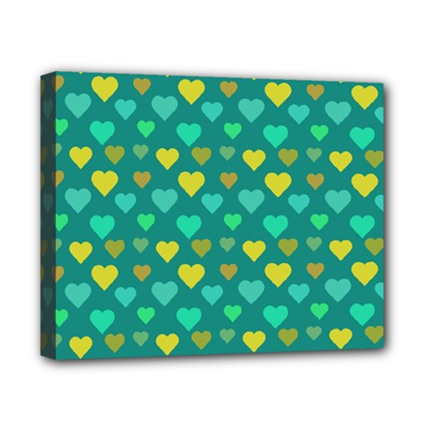 Hearts Seamless Pattern Background Canvas 10  x 8