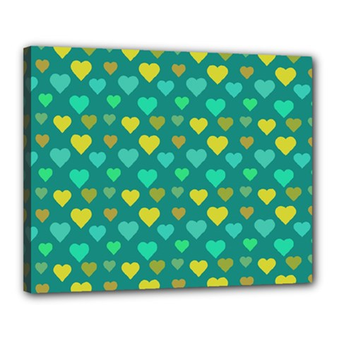 Hearts Seamless Pattern Background Canvas 20  x 16