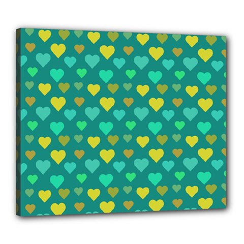 Hearts Seamless Pattern Background Canvas 24  x 20