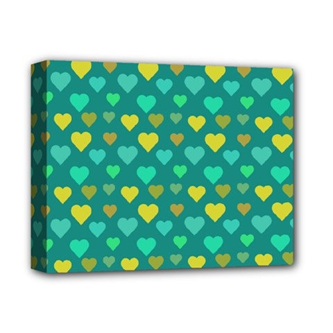 Hearts Seamless Pattern Background Deluxe Canvas 14  x 11