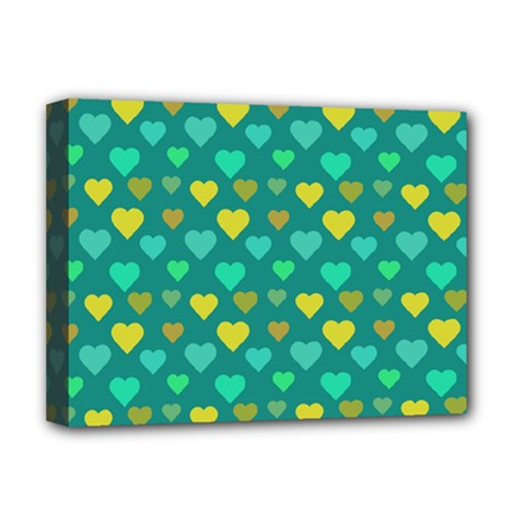 Hearts Seamless Pattern Background Deluxe Canvas 16  X 12