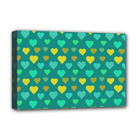 Hearts Seamless Pattern Background Deluxe Canvas 18  x 12
