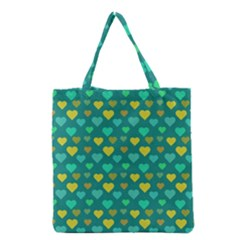 Hearts Seamless Pattern Background Grocery Tote Bag