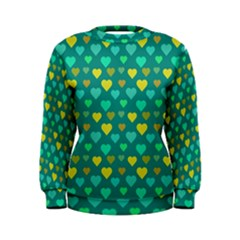 Hearts Seamless Pattern Background Women s Sweatshirt