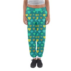 Hearts Seamless Pattern Background Women s Jogger Sweatpants