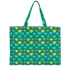 Hearts Seamless Pattern Background Zipper Large Tote Bag