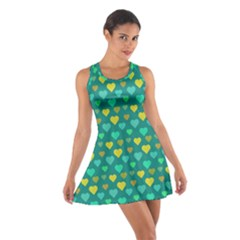 Hearts Seamless Pattern Background Cotton Racerback Dress