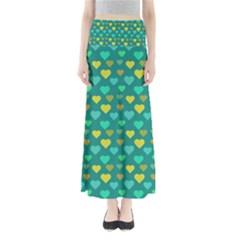 Hearts Seamless Pattern Background Maxi Skirts