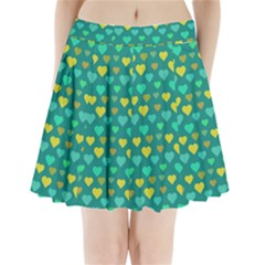 Hearts Seamless Pattern Background Pleated Mini Skirt