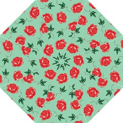 Red Floral Roses Pattern Wallpaper Background Seamless Illustration Hook Handle Umbrellas (Medium)