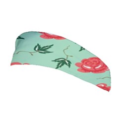 Red Floral Roses Pattern Wallpaper Background Seamless Illustration Stretchable Headband