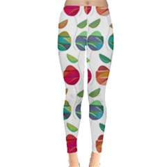 Watercolor Floral Roses Pattern Leggings