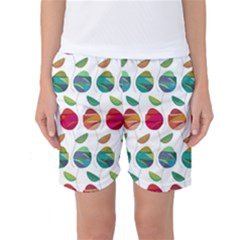 Watercolor Floral Roses Pattern Women s Basketball Shorts