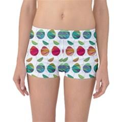 Watercolor Floral Roses Pattern Boyleg Bikini Bottoms