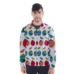 Watercolor Floral Roses Pattern Wind Breaker (men)