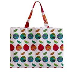 Watercolor Floral Roses Pattern Medium Tote Bag