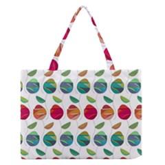 Watercolor Floral Roses Pattern Medium Zipper Tote Bag