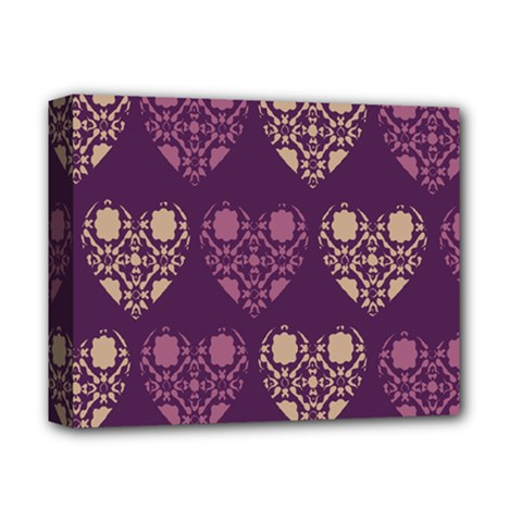 Purple Hearts Seamless Pattern Deluxe Canvas 14  x 11