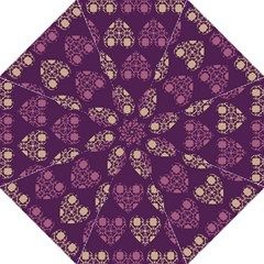 Purple Hearts Seamless Pattern Golf Umbrellas