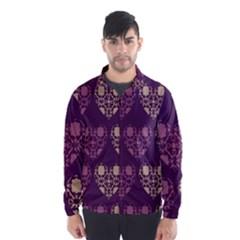 Purple Hearts Seamless Pattern Wind Breaker (men)
