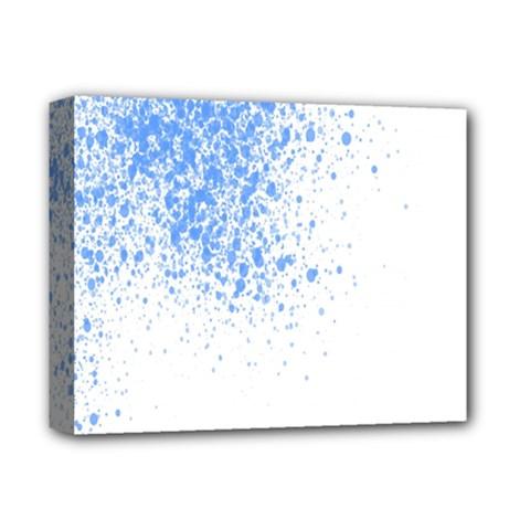Blue Paint Splats Deluxe Canvas 14  x 11
