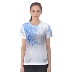 Blue Paint Splats Women s Sport Mesh Tee