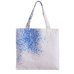 Blue Paint Splats Grocery Tote Bag