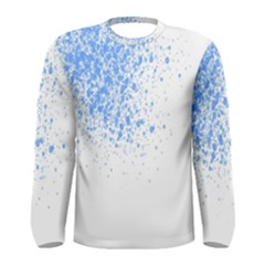 Blue Paint Splats Men s Long Sleeve Tee