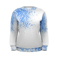 Blue Paint Splats Women s Sweatshirt