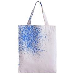 Blue Paint Splats Zipper Classic Tote Bag