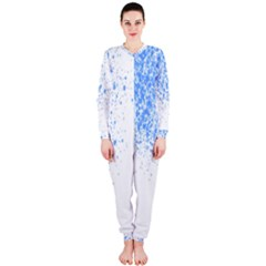 Blue Paint Splats OnePiece Jumpsuit (Ladies)