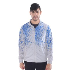 Blue Paint Splats Wind Breaker (Men)