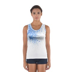 Blue Paint Splats Women s Sport Tank Top