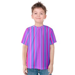 Blue And Pink Stripes Kids  Cotton Tee