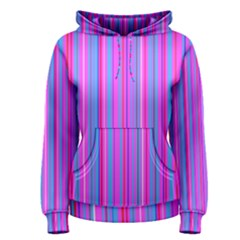 Blue And Pink Stripes Women s Pullover Hoodie