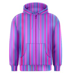 Blue And Pink Stripes Men s Zipper Hoodie