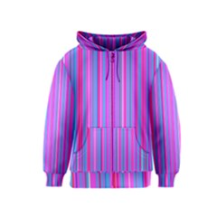 Blue And Pink Stripes Kids  Zipper Hoodie