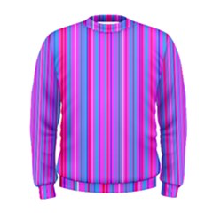 Blue And Pink Stripes Men s Sweatshirt