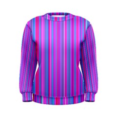 Blue And Pink Stripes Women s Sweatshirt