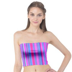 Blue And Pink Stripes Tube Top
