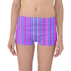 Blue And Pink Stripes Boyleg Bikini Bottoms