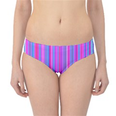 Blue And Pink Stripes Hipster Bikini Bottoms