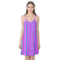 Blue And Pink Stripes Camis Nightgown