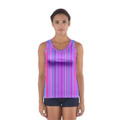 Blue And Pink Stripes Women s Sport Tank Top