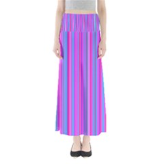 Blue And Pink Stripes Maxi Skirts