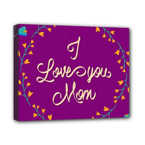 Happy Mothers Day Celebration I Love You Mom Canvas 10  x 8